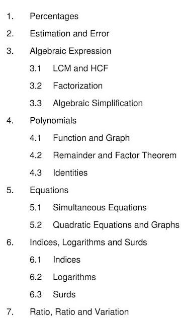 數學MC 技巧教授班 單元目錄