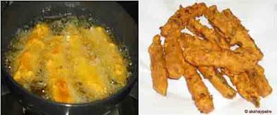 fry the bhindis until crisp