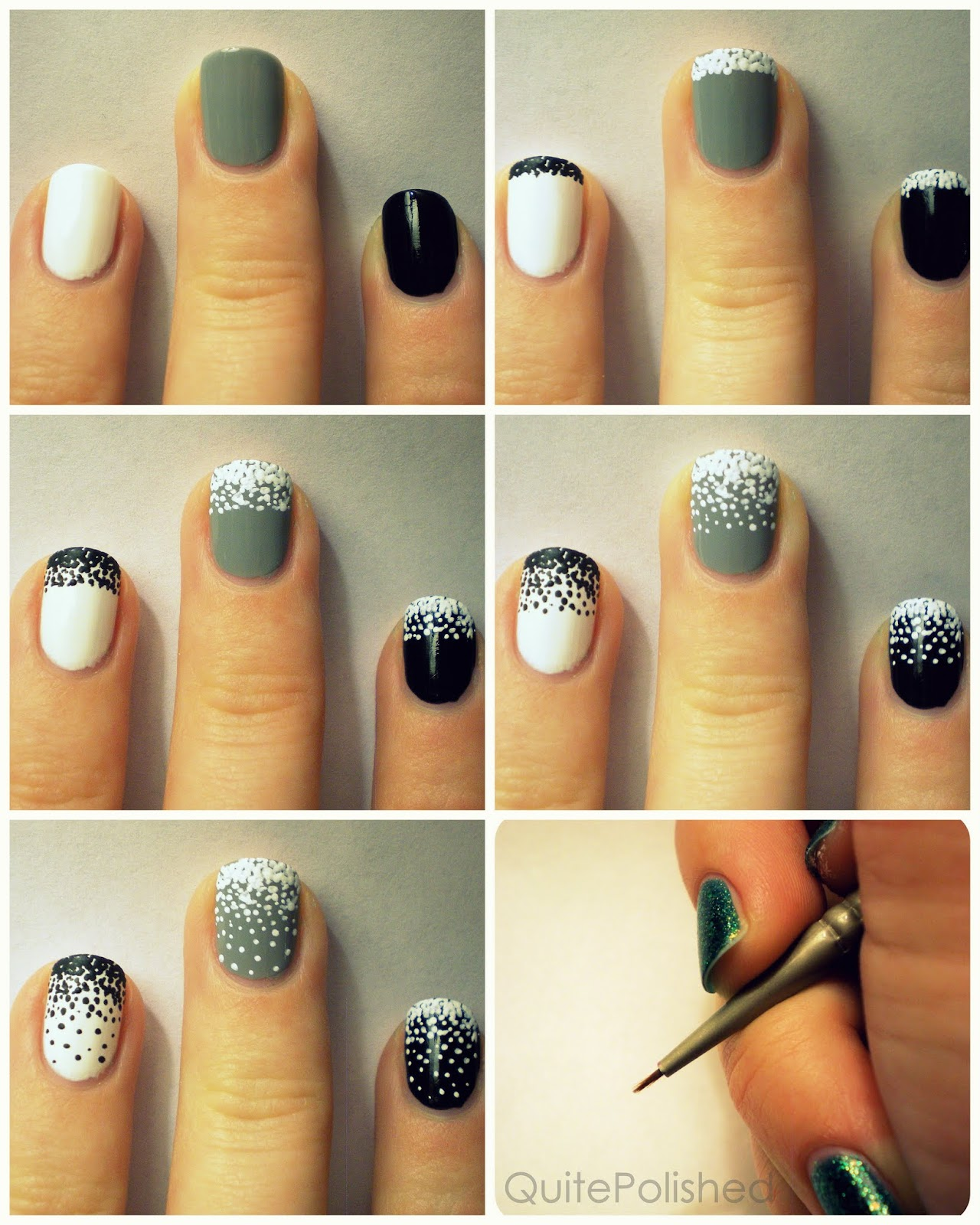 Creative Easy Nail Art Ideas: Quite Polished: Stippling Tutorial