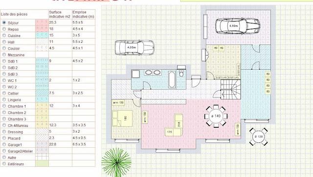 plan maison comme un architecte. Black Bedroom Furniture Sets. Home Design Ideas