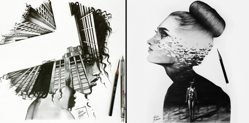 00-Patrick-Antounian-Black-and-White-Double-Exposure-Drawings-www-designstack-co