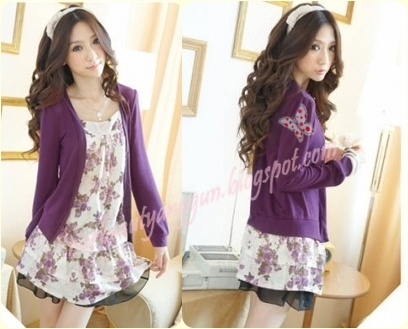 TOP JOINTED WITH JACKET ~ Purple, Pink
