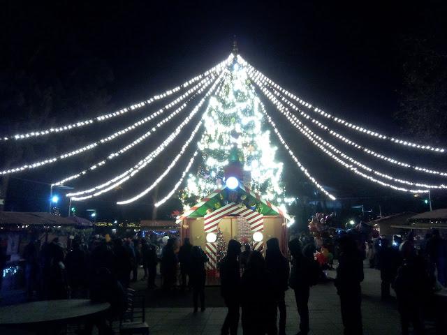 Luces navideñas en Tbilisi