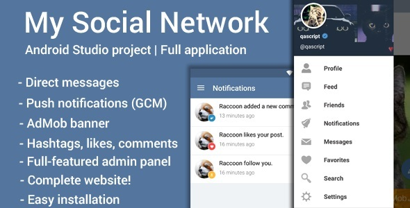 My Social Network (App and Website) v2.3 ~ Codecanyon(www.clonenulled.net)