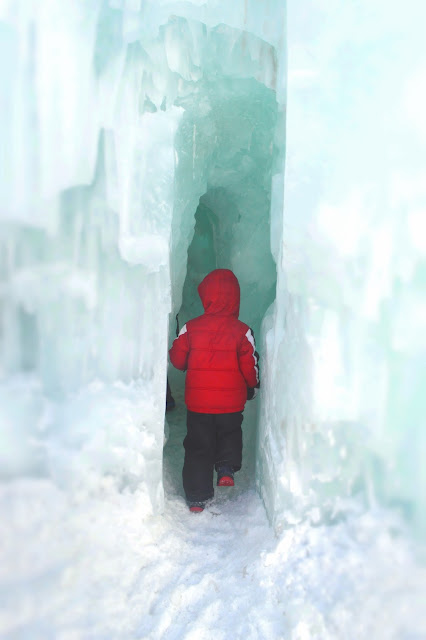 Child in Ice Castle