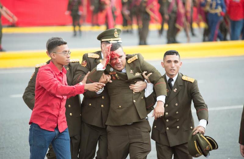 Militares heridos por el atentado contra el Dictador Maduro en la Avenida Bolívar