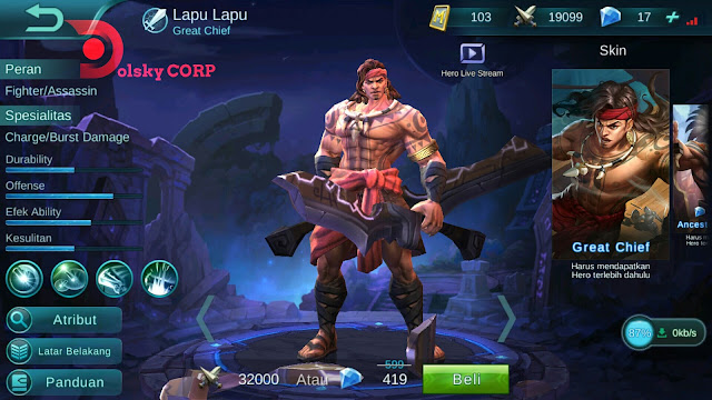 Hero Lapu-lapu ( Great Chief ) Attacker Damage Build Set up Gear