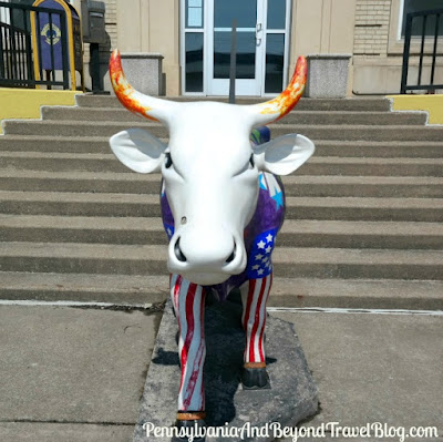 Space Cow Artistic Cow Parade Statue in Steelton Pennsylvania