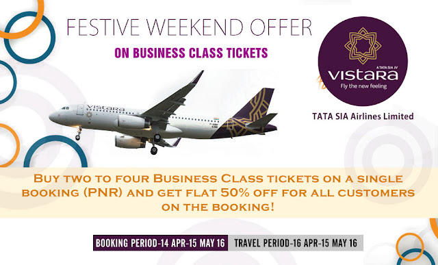 AirVistara Festive Weekend Offer on Business Class Tickets - Air Ticket Booking Agent in Ghatlodia, Travel Agent in Ghatlodia, Sola, Bhuyangdev, Naranpura, Satellite Ahmedabad, www.aksharonline.com, akshar infocom
