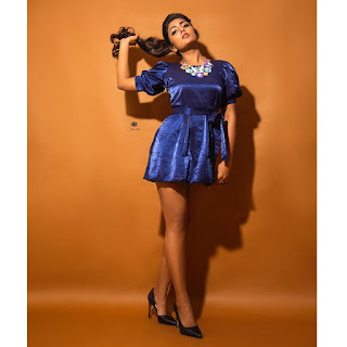 Actress Eesha Rebba Hot in Short Dress Photoshoot