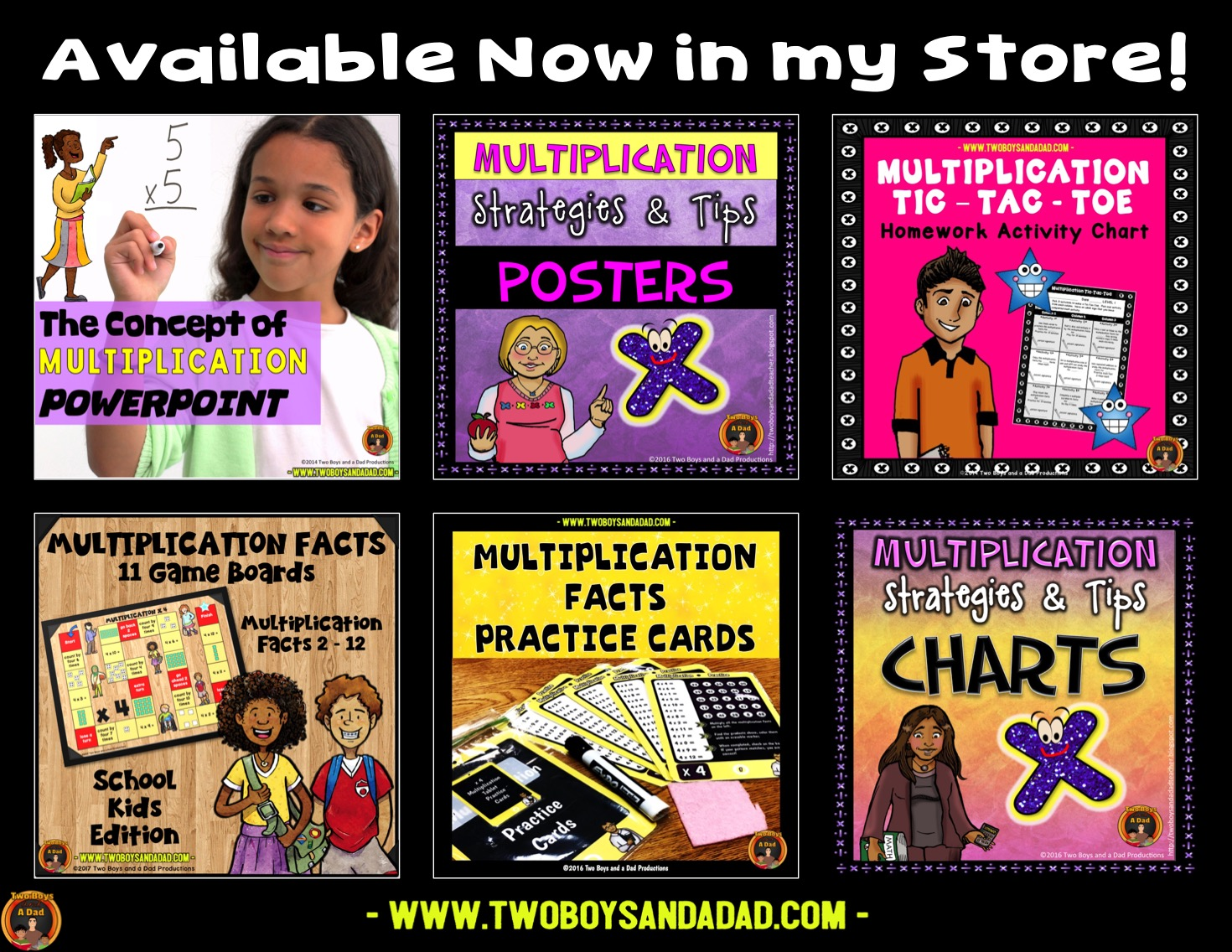 multiplication resources on Teachers Pay Teachers