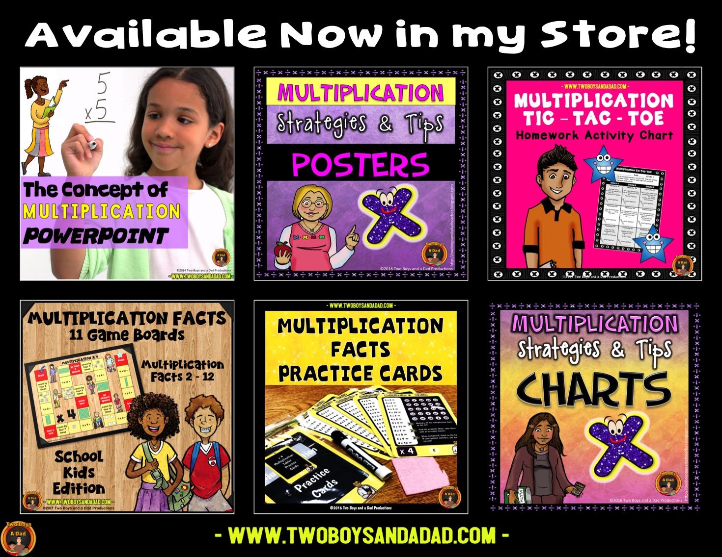 multiplication resources on Teachers Pay Teachers