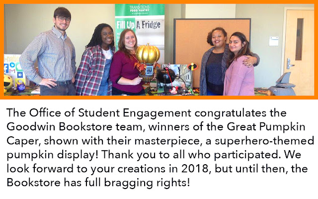 Congratulations to the bookstore winners of the Great Pumpkin Caper