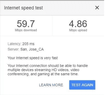 Test your Internet Speed Via Google Search Engine