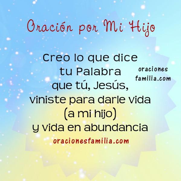 Oración cristiana para que Dios ayude a mi hijo, hija, liberación para su vida, que mi hijo sea feliz, oraciones de familia por Mery Bracho