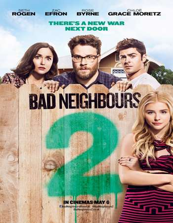 Poster Of Neighbors 2 Sorority Rising 2016 English 300MB BRRip 480p ESubs Watch Online Free Download downloadhub.net