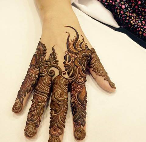 Henna Design for Fingers 4