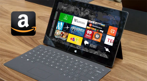 Download Amazon movies to watch on Surface tablets