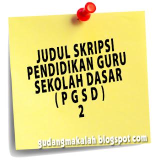 contoh judul skripsi pgsd