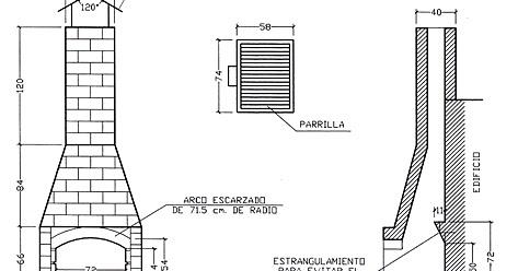 Recetas f ciles de josean mg plano de la barbacoa for Planos barbacoa