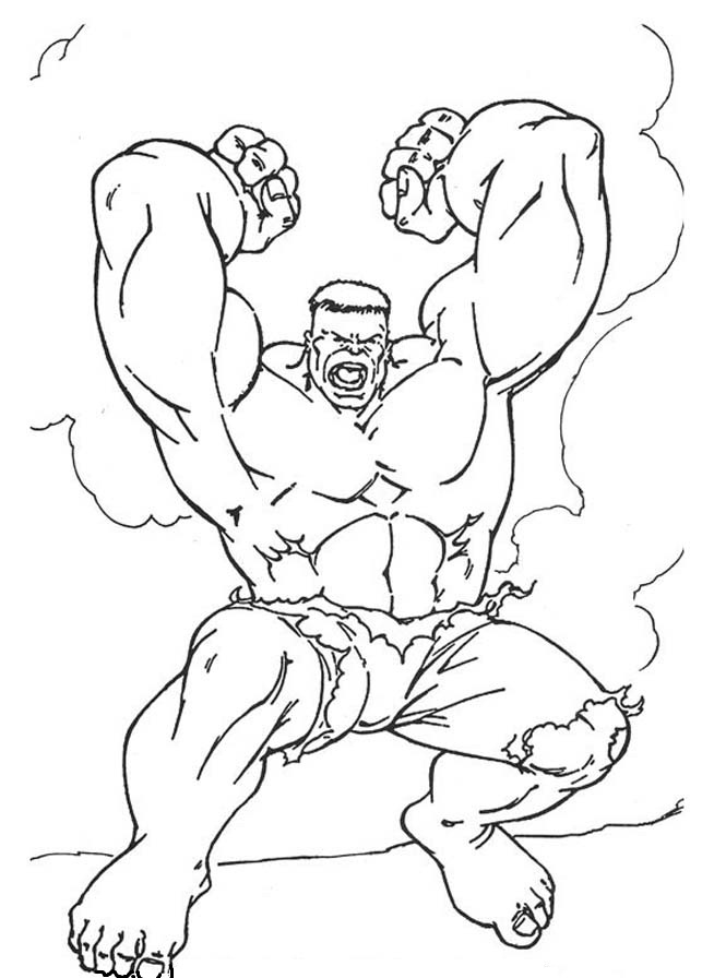 the hulk coloring pages | Incrível Hulk – Desenhos para Colorir - Desenhos Para Colorir
