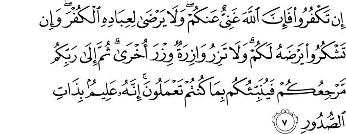 Surat Az-Zumar ayat 7