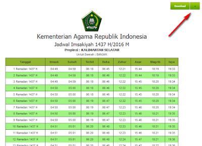 Jadwal imsakiyah Ramadhan seluruh Indonesia