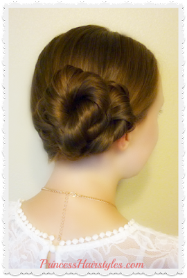 Hairstyle for prom, homecoming, weddings. Easy video tutorial.