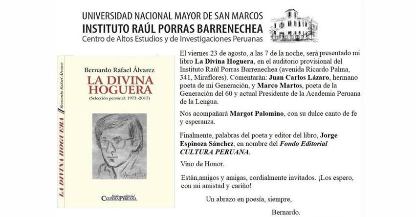 UNMSM: Participa de los conversatorios gratuitos del Instituto Raúl Porras Barrenechea de la Universidad Nacional Mayor de San Marcos