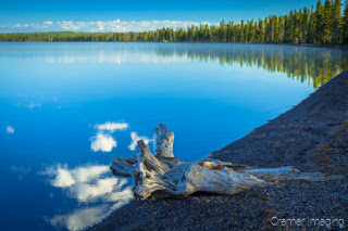 Cramer Imaging's quality landscape photograph of reflections in Lewis Lake in Yellowstone National Park, Wyoming