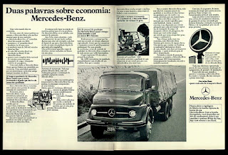 Mercedes-Benz in the 70's; caminhão decada de 70; reclame de carros anos 70. brazilian advertising cars in the 70. os anos 70. história da década de 70; Brazil in the 70s; propaganda carros anos 70; Oswaldo Hernandez;