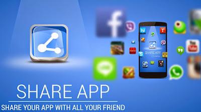 cara mengirim aplikasi dengan Share Apps