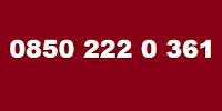 0850 222 0 361 Kimin Telefon Numarası