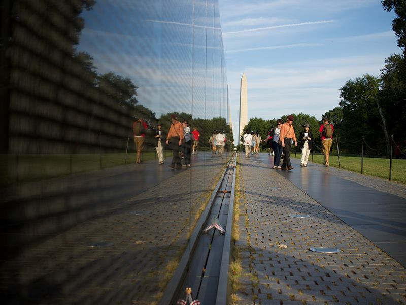 The Vietnam Veterans Memorial is a national memorial in Washington, D.C, is a tribute to those who served in the United States Armed Forces, who fought in the Vietnam War, service members who died in service in Vietnam/South East Asia, and those service members who were unaccounted and missing during the War.