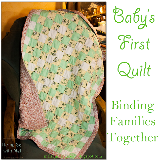 Baby quilt, binding families together one stitch at a time