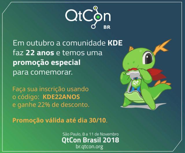 Desconto da QtCon 2018 Brasil