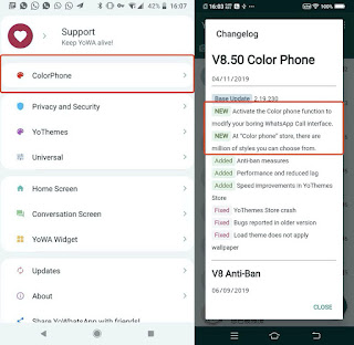 YoWhatsApp v8 With Color Phone