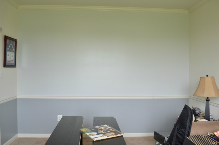 Den wall painted