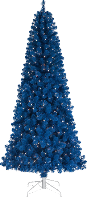 dark teal Christmas tree
