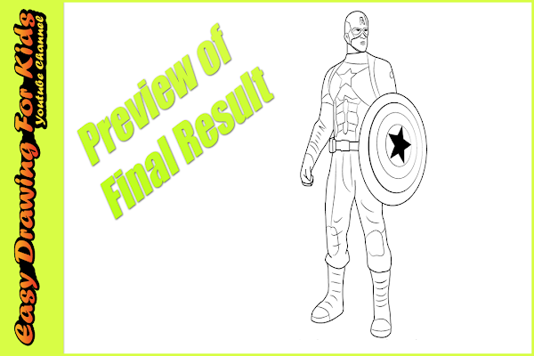 Learn How To Draw Falcon From Captain America Civil War: How To Draw Captain America Easy