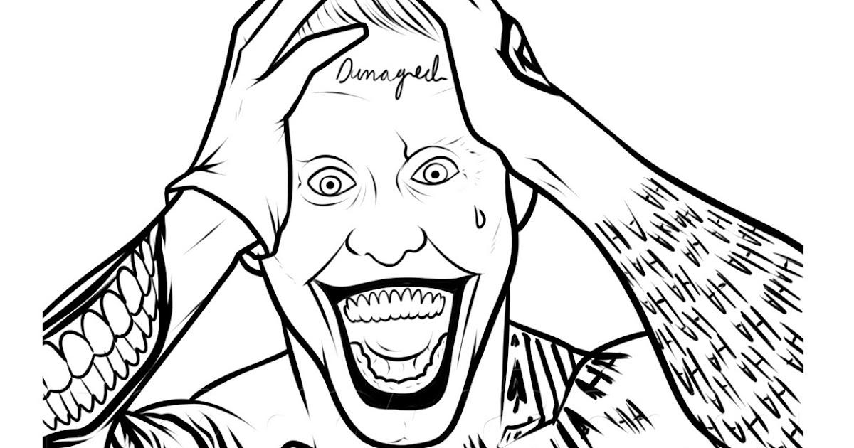 Pinto Dibujos Joker De Suicide Squat Para Colorear