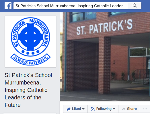 Our school Facebook Page