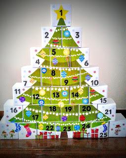 Ημερολόγιο αντίστροφης μέτρησης για τα Χριστούγεννα.