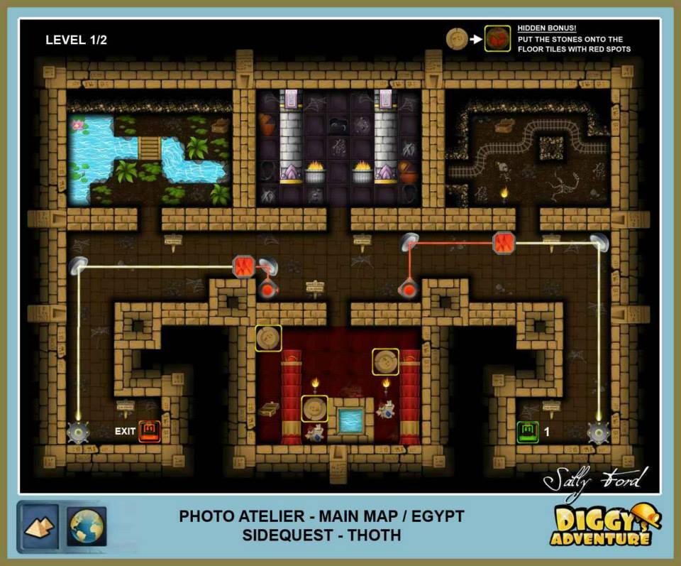 Diggy's Adventure Walkthrough: Egypt Main / Photo Atelier Level 1