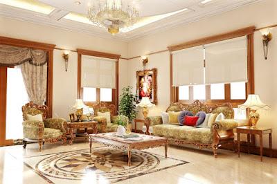 Thiết kế nội thất phòng khách đẹp, sang trọng và cổ điển