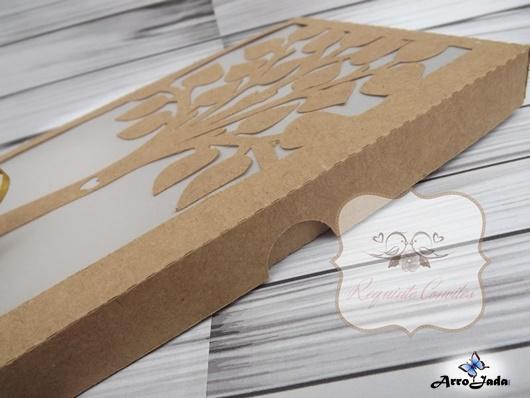 Caixa de convite de casamento