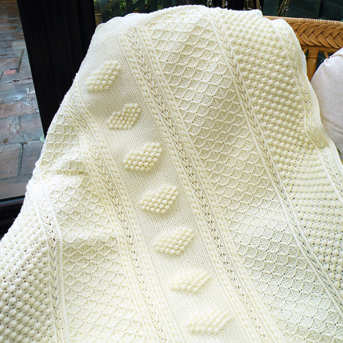 Aran Hearts Throw
