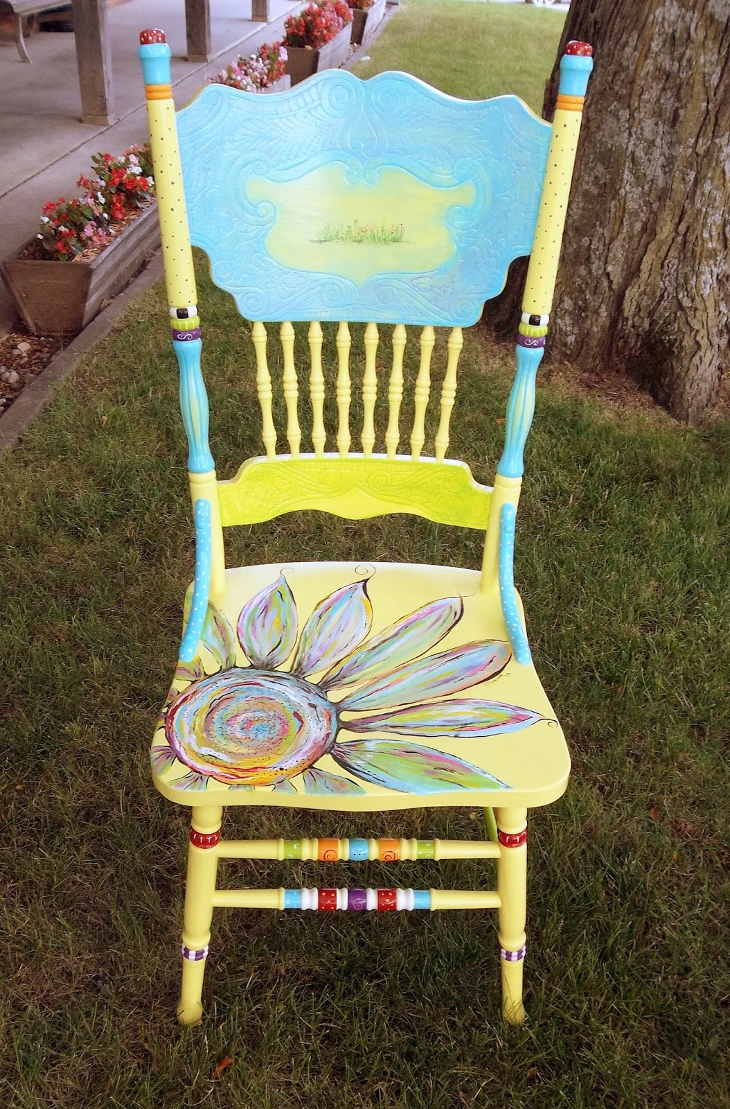 Funky Wooden Chairs Vintage Carolyn 39s Furniture The Painted
