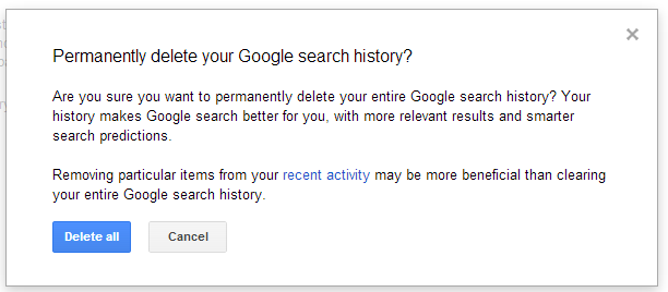 How To Remove All Your Google Web History?