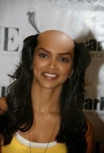 bald shave woman